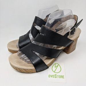 Dansko Womens Ashlee Sandal size 7.5-8 black